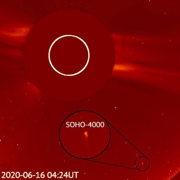 4000th comet spotted by soho